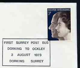 Postmark - Great Britain 1973 cover bearing special cancellation for First Surrey Post Bus