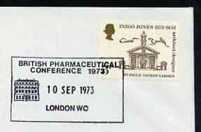 Postmark - Great Britain 1973 cover bearing illustrated cancellation for British Pharmaceutical Conference
