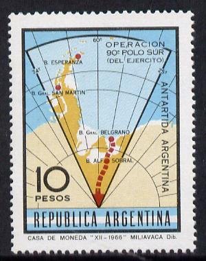 Argentine Republic 1966 South Pole Expedition (map) SG 1188 unmounted mint*