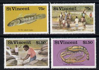 St Vincent 1986 Freshwater Fishing set of 4 (SG 1045-48) unmounted mint