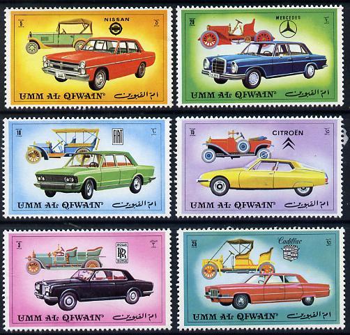 Umm Al Qiwain 1972 Cars (Vintage & Modern) unmounted mint set of 6, Mi 637-42