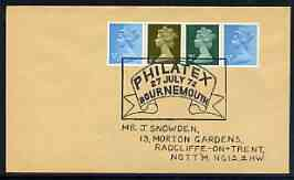 Postmark - Great Britain 1972 cover bearing special cancellation for Philatex 1972 (Bournemouth)