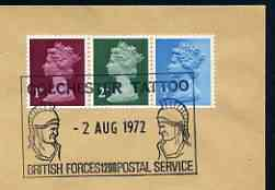 Postmark - Great Britain 1972 cover bearing special cancellation for Colchester Tattoo (BFPS) showing 2 Roman soldiers