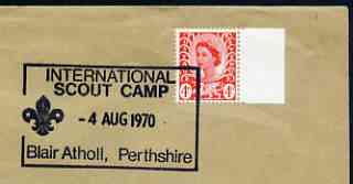 Postmark - Great Britain 1970 cover bearing illustrated cancellation for International Scout Camp, Blair Atholl
