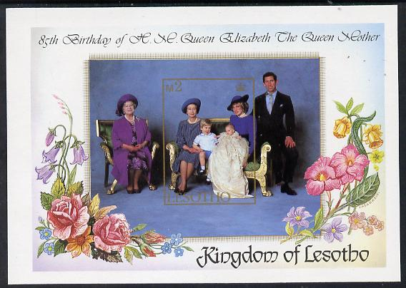 Lesotho 1985 Life & Times of HM Queen Mother 85th Birthday unmounted mint imperf m/sheet (SG MS 639)