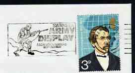 Postmark - Great Britain 1974 cover bearing illustrated cancellation for Swansea Army Display