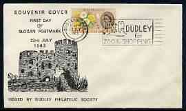 Postmark - Great Britain 1963 cover bearing illustrated slogan cancellation for For 'Dudley for Zoo & Shopping'