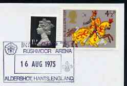 Postmark - Great Britain 1975 cover bearing illustrated cancellation for 'Inter Camp 75', Rushmoor