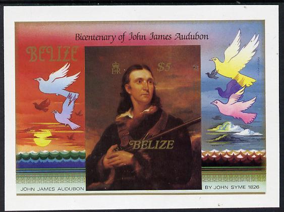 Belize 1985 Birth Bicentenary of John Audubon (Birds) $5 imperf m/sheet unmounted mint (SG MS 826)