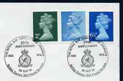 Postmark - Great Britain 1979 cover bearing illustrated cancellation for Royal Air Force Police Brugggen, 25th Anniversary (BFPS)