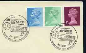 Postmark - Great Britain 1978 cover bearing illustrated cancellation for RAFA 50th Anniversary Air Show, Sywell (BFPS)