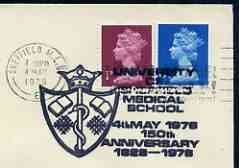 Postmark - Great Britain 1978 cover bearing illustrated cancellation for University of Sheffield Medical School 150th Anniversary