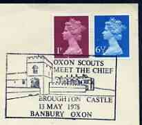 Postmark - Great Britain 1978 cover bearing illustrated cancellation for Oxon Scouts Meet the Chief, Broughton Castle