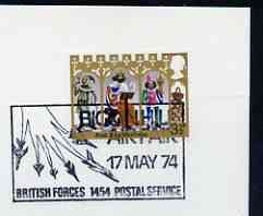 Postmark - Great Britain 1974 card bearing illustrated cancellation for Biggin Hill Air Fair, (BFPS)