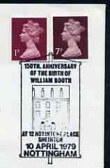Postmark - Great Britain 1979 cover bearing illustrated cancellation for 150th Anniversary of Birth of William Booth