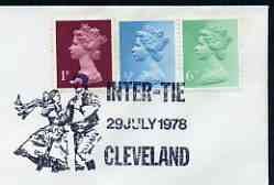 Postmark - Great Britain 1978 cover bearing illustrated cancellation for Inter-Tie, Cleveland