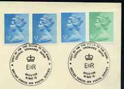 Postmark - Great Britain 1978 cover bearing illustrated cancellation for Royal Visit to Central Ordinance Depot (BFPS)