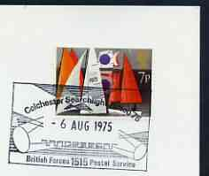Postmark - Great Britain 1975 cover bearing illustrated cancellation for Colchester Searchlight Tattoo (BFPS)
