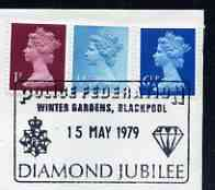 Postmark - Great Britain 1979 cover bearing illustrated cancellation for Police Federation, Diamond Jubilee