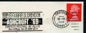 Postmark - Great Britain 1970 cover bearing illustrated slogan cancellation for 'Ashcroft '69' Fairfield, Croydon