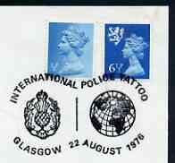 Postmark - Great Britain 1976 cover bearing illustrated cancellation for International Police Tattoo, Glasgow