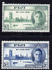 Fiji 1946 KG6 Victory Commemoration set of 2 unmounted mint, SG 268-9