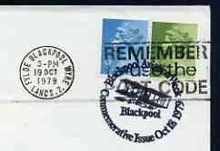 Postmark - Great Britain 1979 cover bearing illustrated cancellation for Blackpool Aviation Week