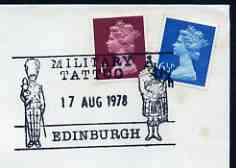 Postmark - Great Britain 1978 cover bearing illustrated cancellation for Edinburgh Military Tattoo (BFPS)