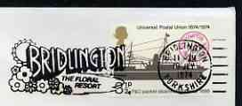 Postmark - Great Britain 1974 cover bearing slogan cancellation for Bridlington, the Floral Resort
