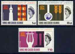 Turks & Caicos Islands 1966 UNESCO set of 3 unmounted mint, SG 271-73