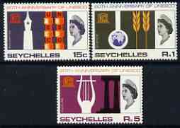 Seychelles 1966 UNESCO set of 3 unmounted mint, SG 230-32