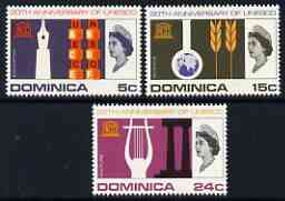 Dominica 1966 UNESCO set of 3 unmounted mint, SG 197-99