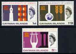 Cayman Islands 1966 UNESCO set of 3 unmounted mint, SG 200-202