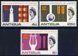 Antigua 1966 UNESCO set of 3 unmounted mint SG 196-98