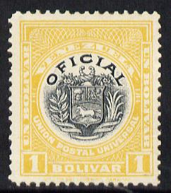 Venezuela 1912 Official 1b (without Stars) virtually unmounted mint SG O358