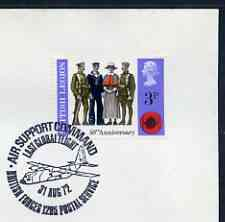 Postmark - Great Britain 1972 cover bearing special cancellation for Air Support Command, Last Global Flight (BFPS)