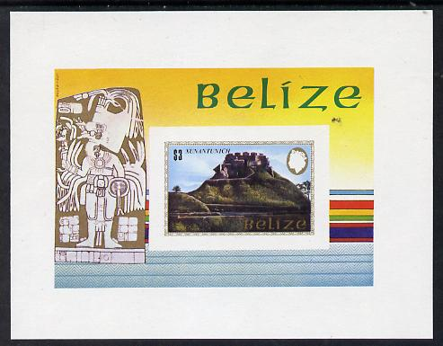 Belize 1983 Maya Monuments m/sheet (Xunantunich) imperf unmounted mint (as SG MS 751)