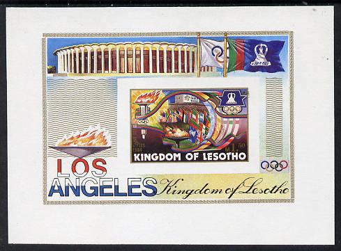 Lesotho 1984 Los Angeles Olympic unmounted mint imperf m/sheet (SG MS 595)