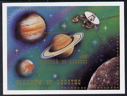 Lesotho 1981 Saturn & Voyager Space Exploration imperf m/sheet unmounted mint as SG MS 436