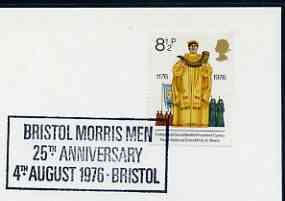 Postmark - Great Britain 1976 card bearing special cancellation for Bristol Morris Men 25th Anniversary