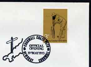 Postmark - Great Britain 1973 cover bearing illustrated cancellation for Official Opening of Cornwall Coast Path