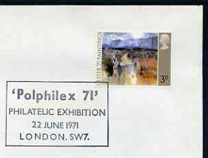 Postmark - Great Britain 1971 cover bearing special cancellation for PolPhilex '71, Philatelic Exhibition