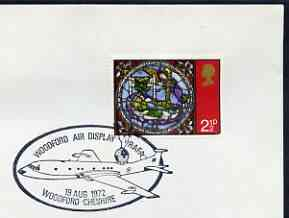 Postmark - Great Britain 1972 cover bearing illustrated cancellation for RAFA Woodford Air Display