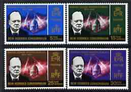 New Hebrides - English 1966 Churchill Commem perf set of 4 unmounted mint, SG 114-17