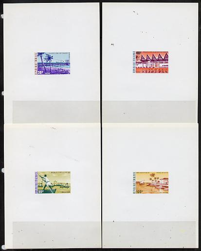 Togo 1974 Coastal Scenes set of 4 deluxe proof sheets in full issued colours