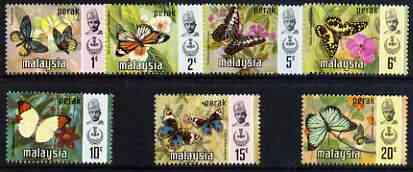 Malaya - Perak 1971 Butterflies def set of 7 complete unmounted mint (Bradbury Wilkinson printing), SG 172-78