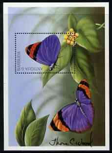 Antigua 1997 Butterflies perf m/sheet (Euphaedra nepphron) signed by Thomas C Wood the designer, unmounted mint SG MS 2436b