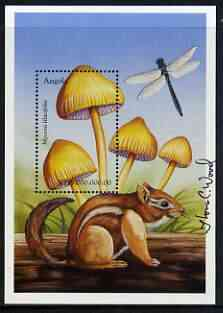 Angola 1999 Mushrooms perf m/sheet (Mycena lilacifolia) signed by Thomas C Wood the designer, unmounted mint SG MS 1510b