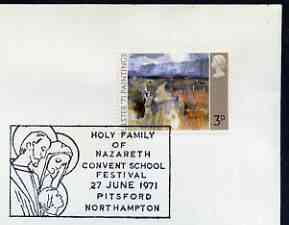 Postmark - Great Britain 1971 cover bearing illustrated cancellation for Holy Family of Nazareth Convent School Festival