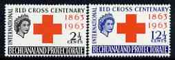 Bechuanaland 1963 Red Cross Centenary perf set of 2 unmounted mint, SG 183-84